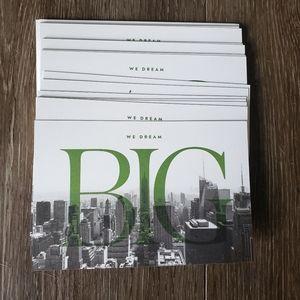 "Kate Spade ""We Dream Big"" Postcards, Set of 20"